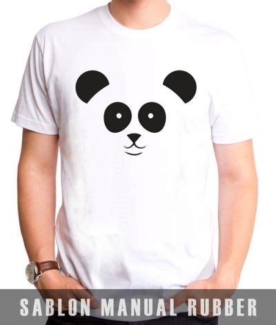 kaos electrika panda kaos sablon panda 1 kaos premium