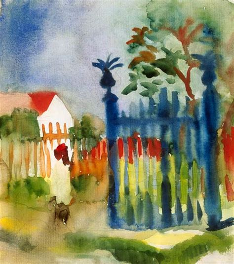 Barriere Jardin 1887 by Garden Gate August Macke