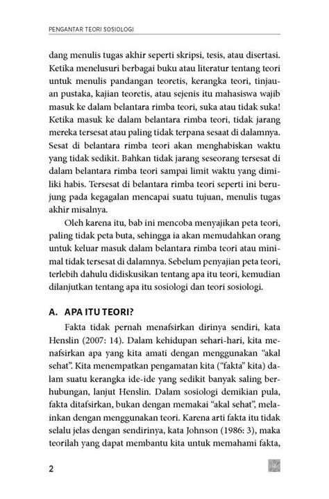 Buku Pengantar Teori Sosiologi Oleh Prof Dr Damsar jual buku pengantar teori sosiologi oleh prof dr damsar gramedia digital indonesia