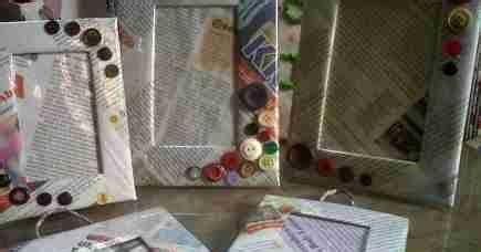 Bingkai Ukuran 15x20 Cm kerajinan tangan kerajinan tangan dari kertas koran
