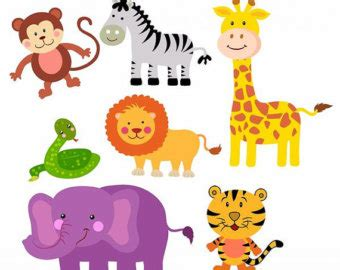 printable animal art printable zoo animals clipart