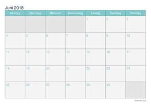 Kalender Juni 2018 Zum Ausdrucken Kalender Juni 2018 Zum Ausdrucken Ikalender Org