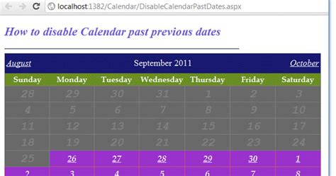 asp net how to disable past dates in a calendar