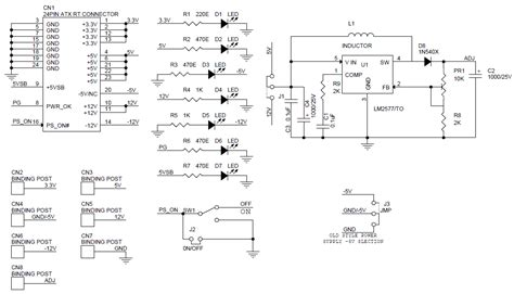 3v power supply circuit diagram atx pc power supply breakout board with step up dc dc