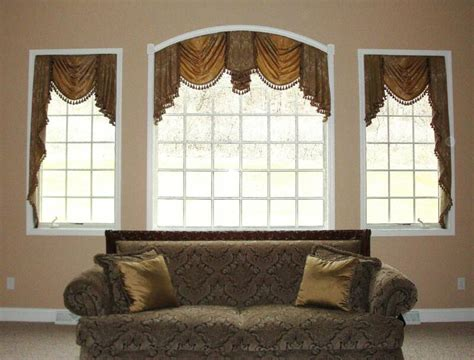 Brown Valance For Windows Ideas Interior Brown Window Window Treatment Ideas For Arched Windows Valances Window Treatments