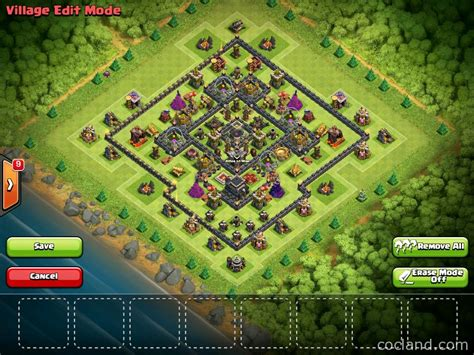th9 layout update new farming layout collection with town hall inside base