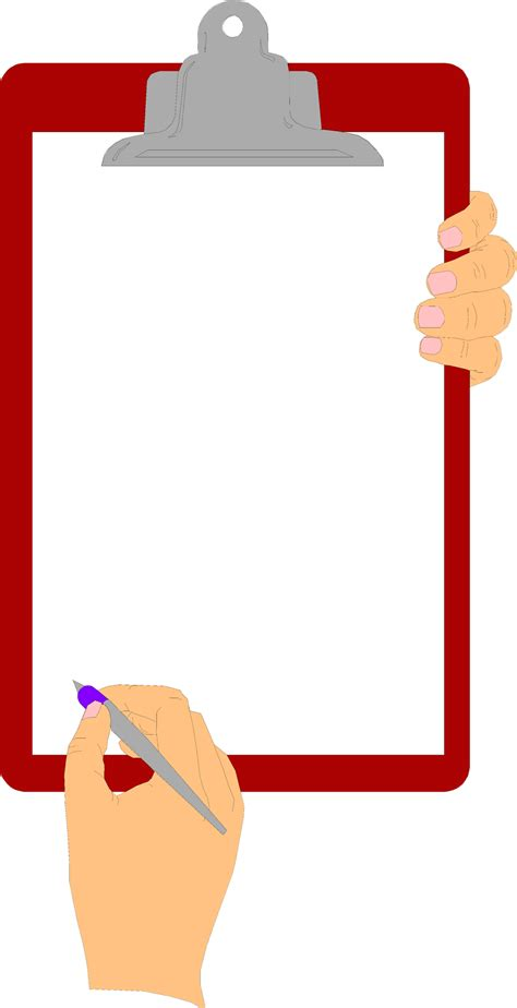 Clipboard Clipart by Free Stock Photo Illustration Of Holding A Blank