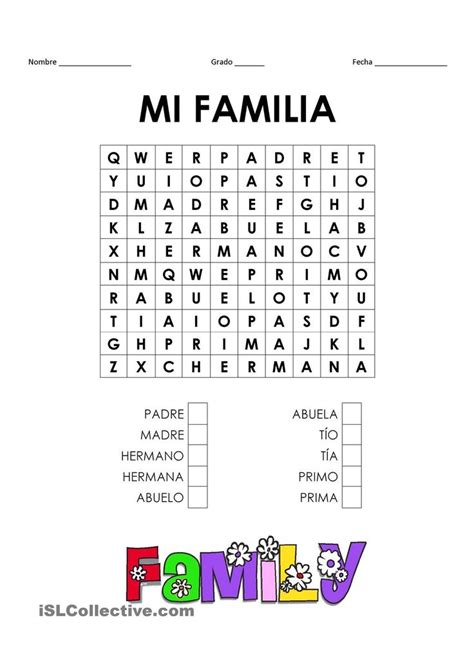 la familia worksheet answers 1000 ideas about worksheets family on learning and