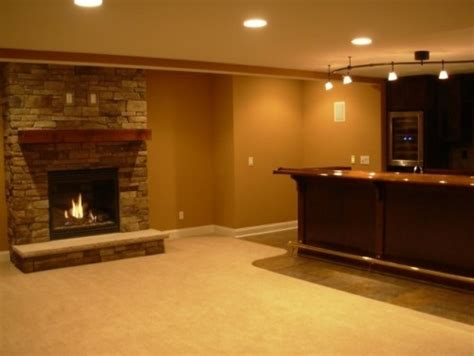 basement fireplace for the home