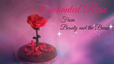 tutorial làm quotes enchanted rose beauty and beast polymer clay tutorial