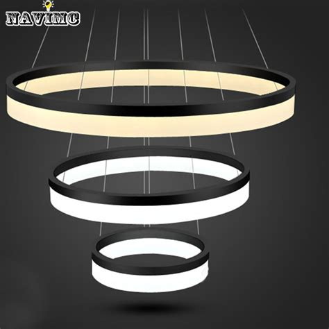 light fixture ring modern two rings led pendant light arcylic led ring