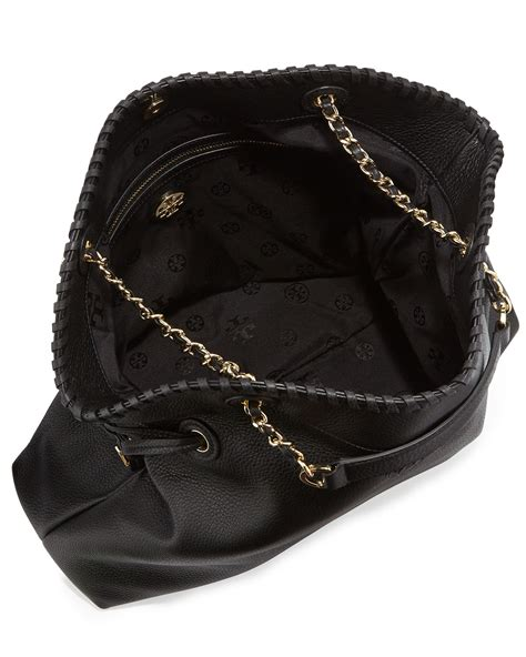 Burch Stacked Small Satchel And Marion Drawstring burch marion slouchy drawstring tote bag in black lyst