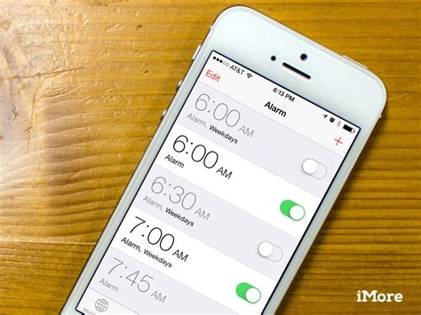how to set alarms on iphone or imore