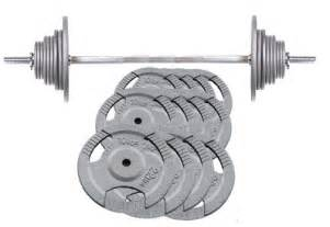 Barbel Standar Barbells Olympic Hammertone Barbell Set World Fitness