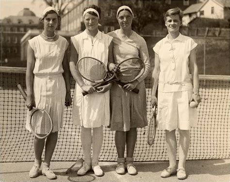 Team Fashion by 1930 Smith College Tennis Team Vintage Sportswear