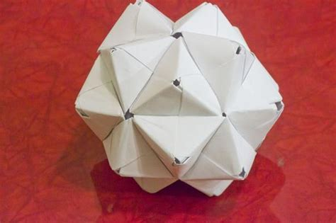 3d Origami Geometric Shapes - modular origami how to make a cube octahedron