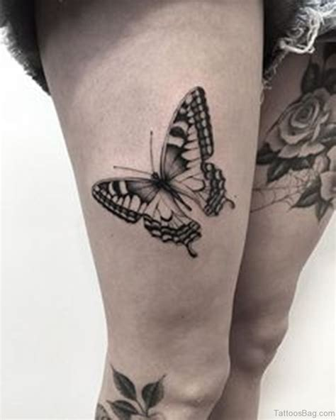 tattoos on your thigh design 71 pretty butterfly tattoos on thigh