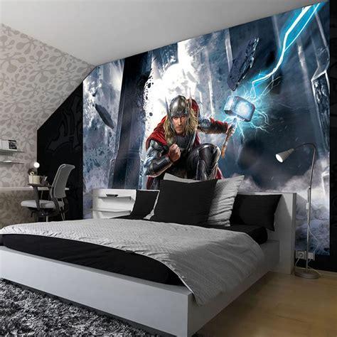 marvel wallpaper for bedroom thor wallpaper great kidsbedrooms the children bedroom