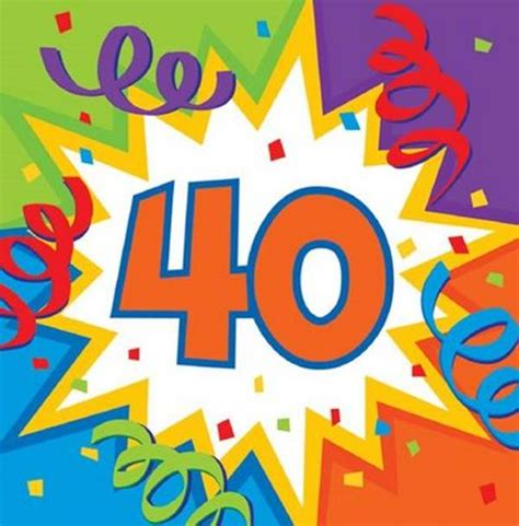 compleanno clipart 40 year birthday clipart
