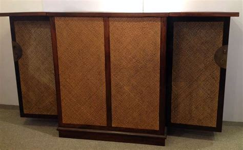 steunk furniture mahogany and wicker bar at 1stdibs