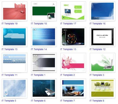 powerpoint it templates gratis ratusan powerpoint ppt template ebsoft