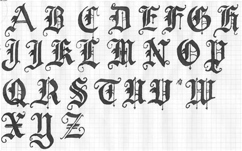 tattoo old english alphabet black ink old english letters tattoo designs