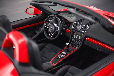 porsche red interior guards red porsche boxster spyder with color matched