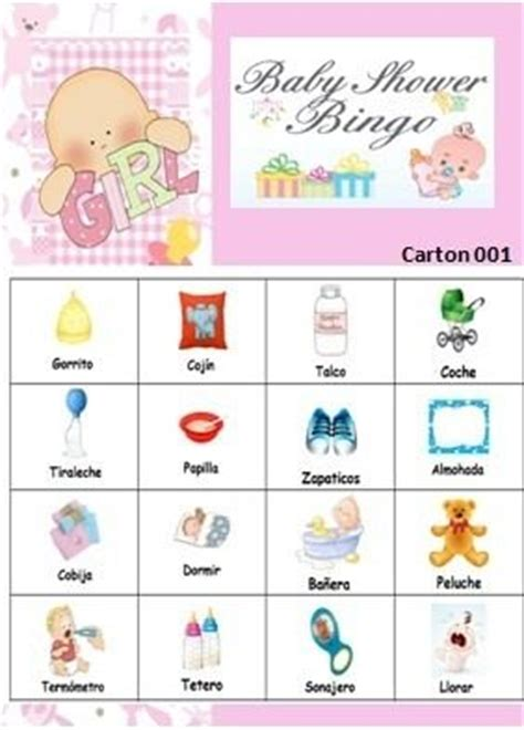 loteria baby shower para imprimir gratis bingo baby shower para imprimir bs 500 00 en mercado libre