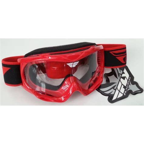 fly motocross goggles fly racing focus youth motocross goggle red