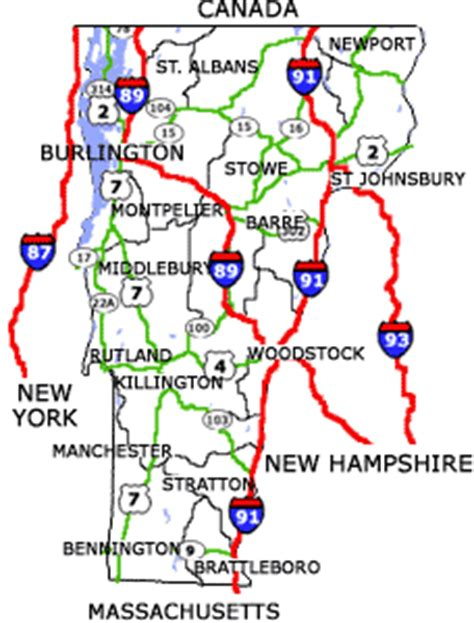 printable vermont road map vermont maps state maps city maps county maps and more