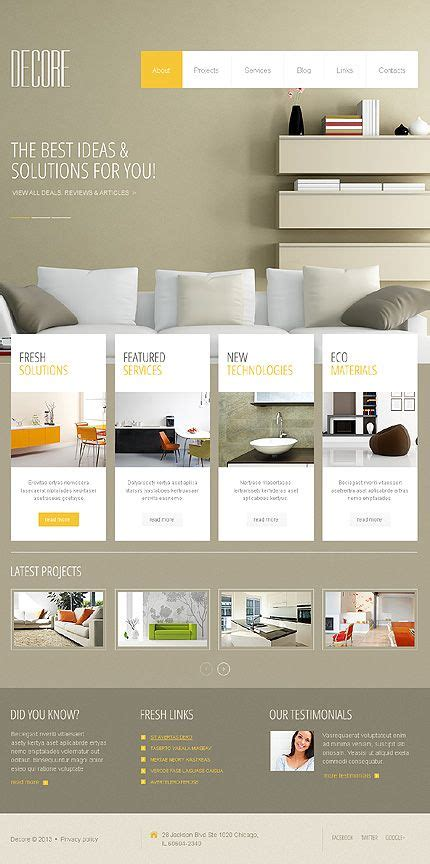 templates for furniture website 52 best interior furniture website templates images on