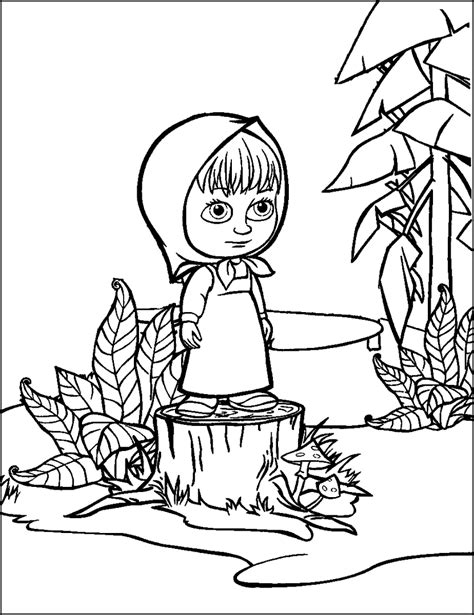 coloring pages masha and bear masha and the bear coloring pages for your kids coloring