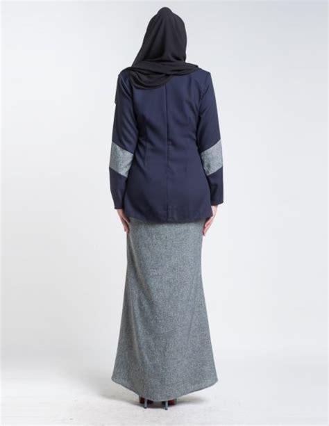 Baju Menyusui Nagita Pendek Navy baju kurung moden mini pendek aimie navy blue