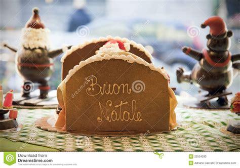merry christmas  italian language buon natale stock  image