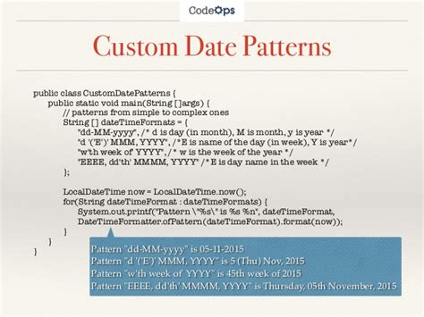 java 8 datetimeformatter pattern java 8 date and time api