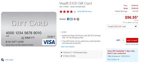 Visa Gift Card Deal - staples cyber monday visa deal 100 cards for 96 95