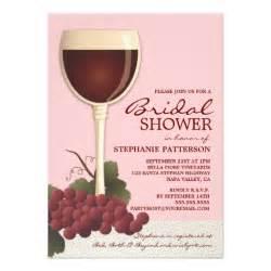 lovely wine grapes bridal shower invitation zazzle