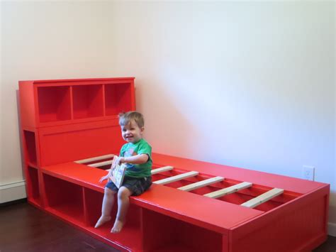 diy kids bed diy storage bed with headboard free plans from ana white com kids bedroom tutorials