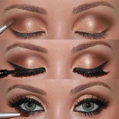 natural gold makeup tutorial best wedding makeup gold eye wedding makeup 800365