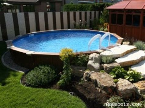 above ground pool ground pools and landscaping on
