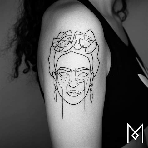 line tattoos new minimalistic single line tattoos by mo ganji colossal