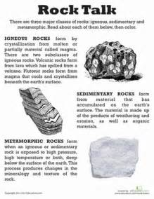 worksheet for class 5 science rocks and minerals rocks