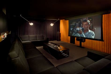Home Design Studio Macy S Modern Home Theater With Pendant Light Carpet Zillow Digs