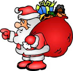 free santa claus with sack of gifts clip art