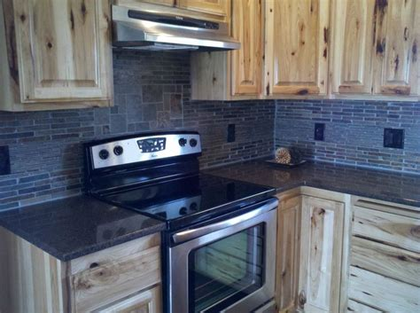 backsplash with layered tile custom hickory