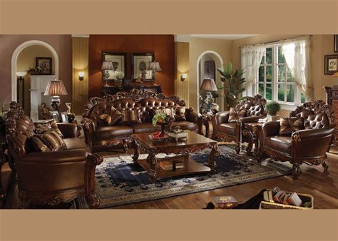 discounted living room furniture 187 2 pc living room set by acme vendome 2pc oversized stationary living room set in