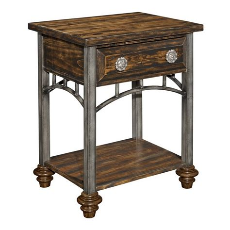 Nightstand Metal shop shadow mountain mountain mesa antique turquoise metal nightstand at lowes