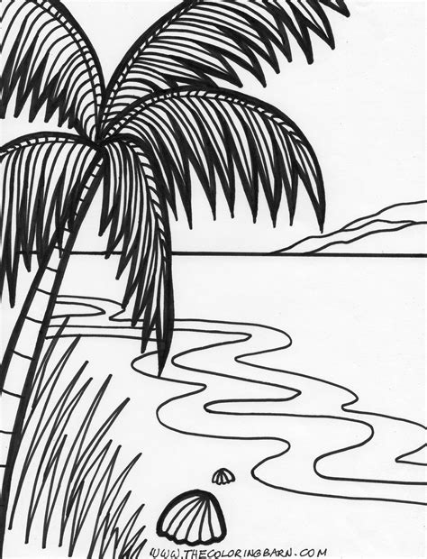 coloring page sunset island sunset printable coloring pages for kids birthday