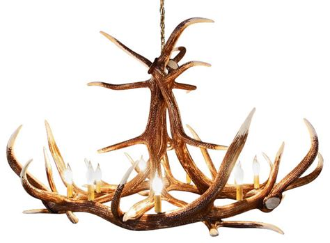Elk Antler Chandeliers Rustic Elk 6 Antler Chandelier With 9 Candle Lights Rustic Chandeliers By Muskoka