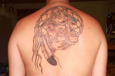 dreamcatcher tattoos on back catcher tattoos page 4